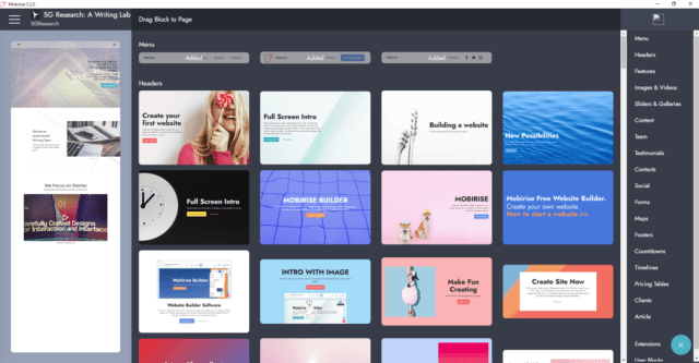 Content Tools for Web Developers and Designers Mobirise