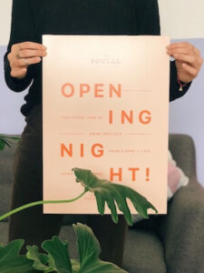 Opening night poster created with GoDaddy Studio