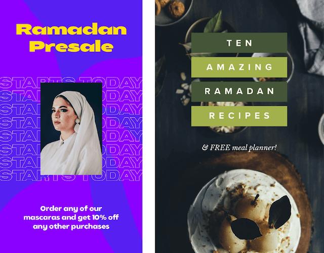GoDaddy Studio templates made for Ramadan
