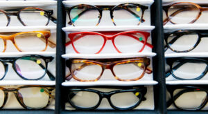 Reading glasses on display