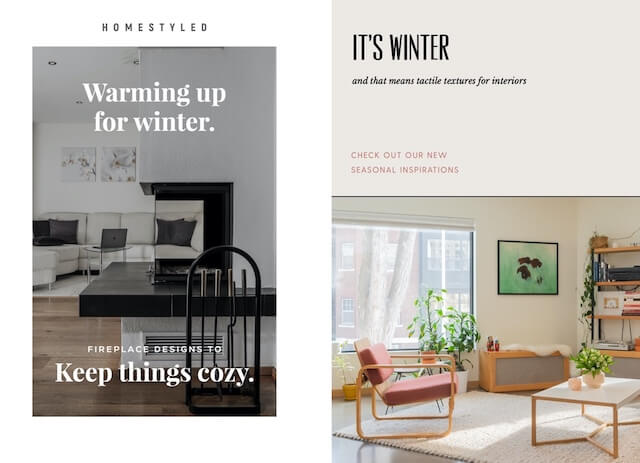 Examples of home design ads