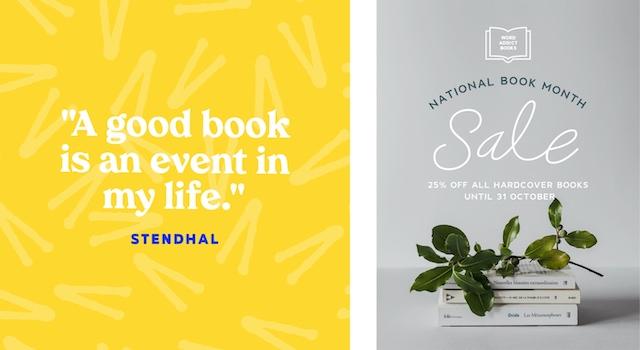 Social ads celebrating book month