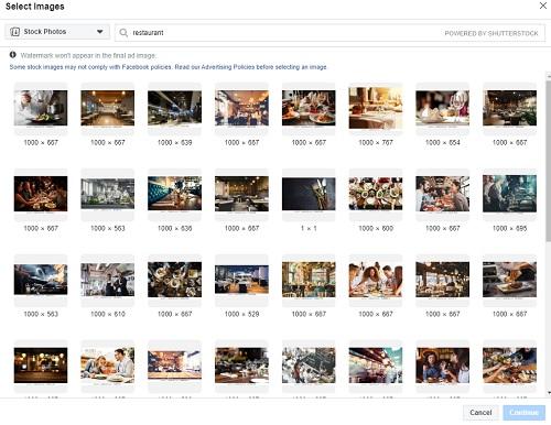 Image Selection Screen For Stock Photos