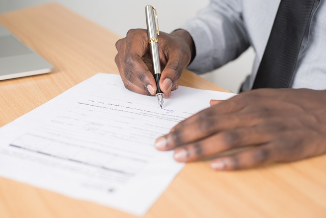 Businessman Signing Contract