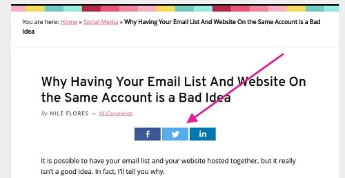 Example Of Blog Social Share Buttons