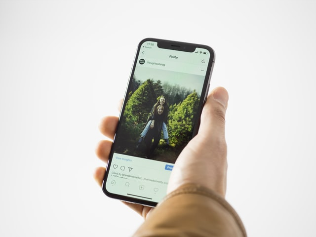 Instagram Post on Smartphone