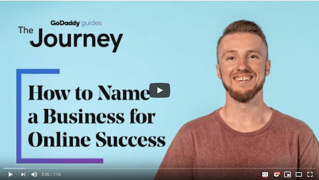 Naming Venture When Becoming Solopreneur GoDaddy Journey Video