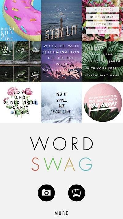 Pinterest On Mobile Word Swag