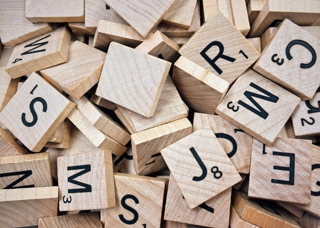 Scrabble Letters Represent Product Naming