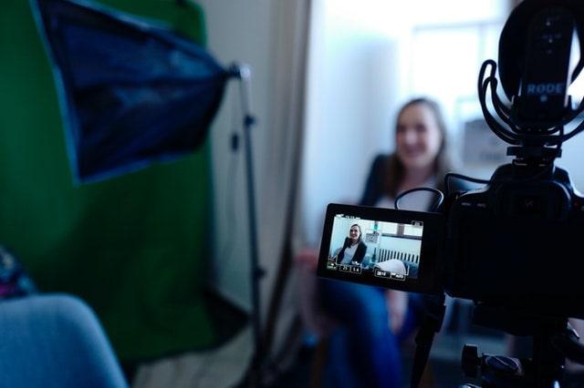Woman On Camera