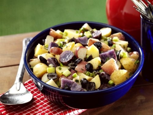 Red, White and Blue Vegan Potato Salad red white and blue recipes
