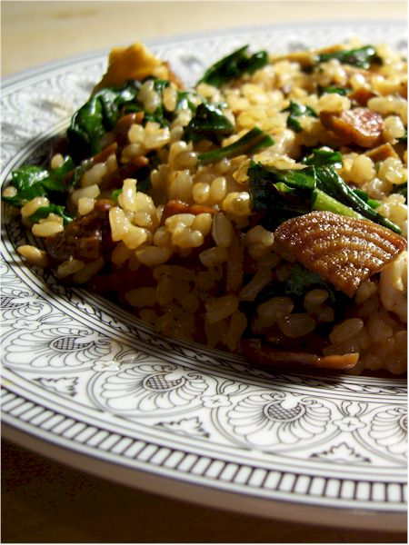 Vegan Pepperoni Beet Rice and Greens - A Wholesome Dairy-Free Meal!