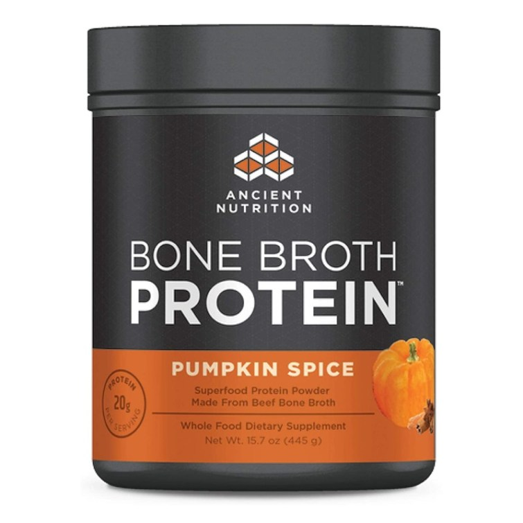 50 Dairy-Free Pumpkin Spice Sweets, Snacks, and More! Pictured: Ancient Nutrition Bone Broth Protein