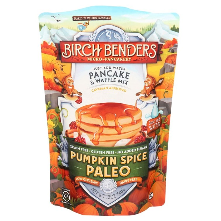 50 Dairy-Free Pumpkin Spice Sweets, Snacks, and More! Pictured: Birch Benders Paleo Pancake Mix