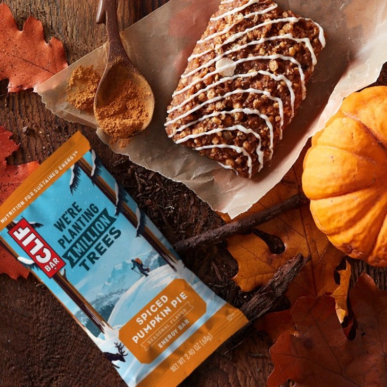50 Dairy-Free Pumpkin Spice Sweets, Snacks, and More! Pictured: Spiced Pumpkin Pie Clif Bar