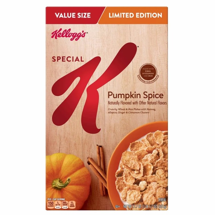 50 Dairy-Free Pumpkin Spice Sweets, Snacks, and More! Pictured: Special K Cereal