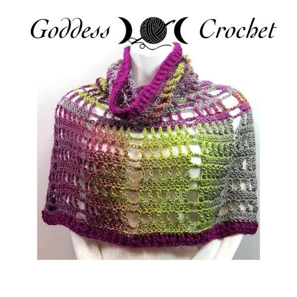 Free Crochet Pattern - Spring Fling Poncho