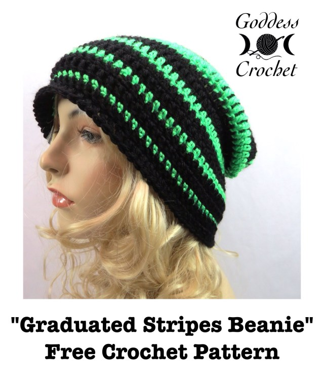 Graduated Stripes Beanie - Free Crochet Pattern
