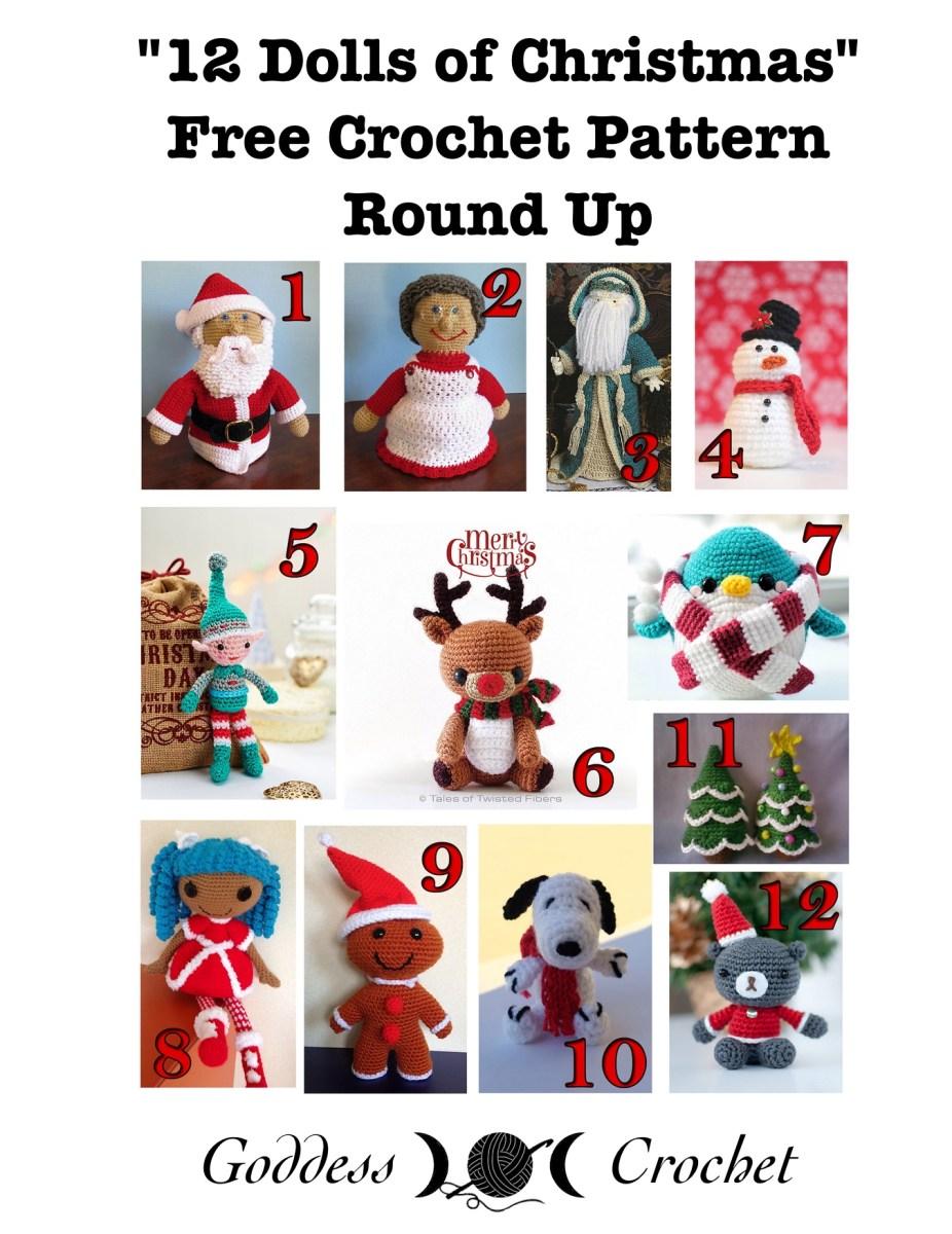 12 Dolls of Christmas – Free Crochet Pattern Round Up – Goddess Crochet
