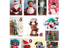12 Dolls of Christmas - Free Crochet Pattern Round Up