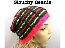 "Free crochet pattern - ""Stained Glass Stripes"" Beanie"