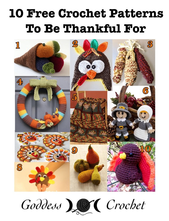 10 Free Crochet Patterns to be Thankful For