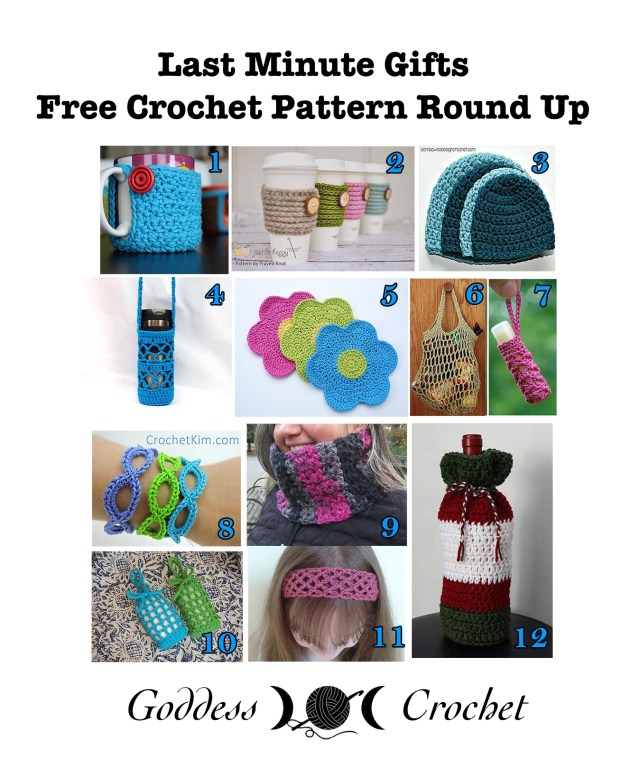 Last Minute Gifts - Free Crochet Pattern Round Up