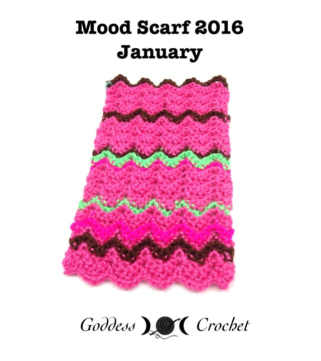Crochet Mood Scarf 2016 - January, Goddess Crochet