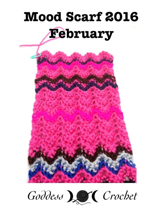 Crochet Mood Scarf - February 2016