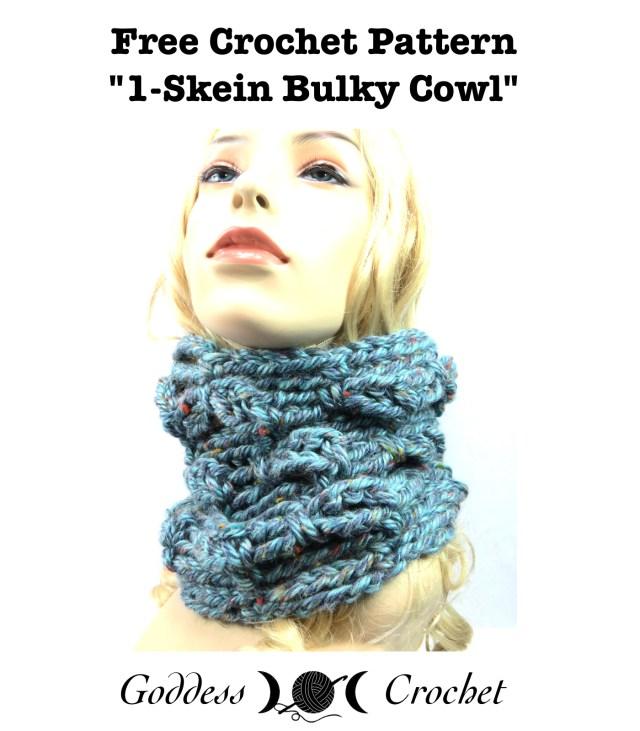 One Skein Bulk Cowl - Free Crochet Pattern