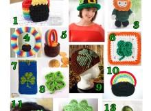 St. Patrick's Day - Free Crochet Pattern Round Up