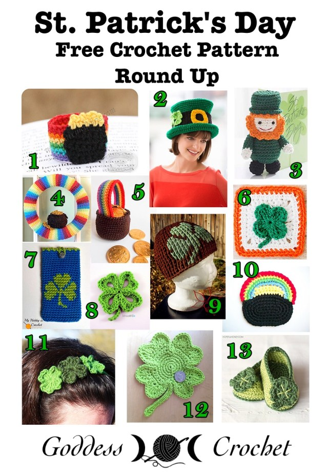 St. Patrick's Day - Free Crochet Pattern Round Up