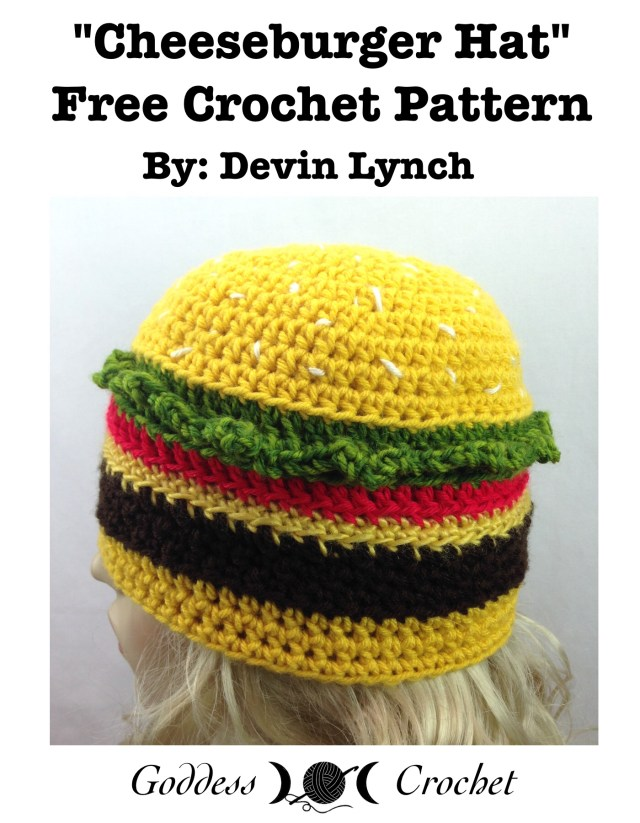 Cheeseburger Hat - Free Crochet Pattern