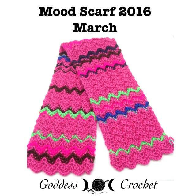 Crochet Mood Scarf - March - Goddess Crochet