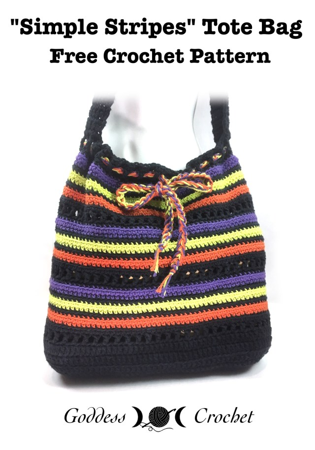 Simple Stripes Tote Bag Free Crochet Pattern Goddess Crochet