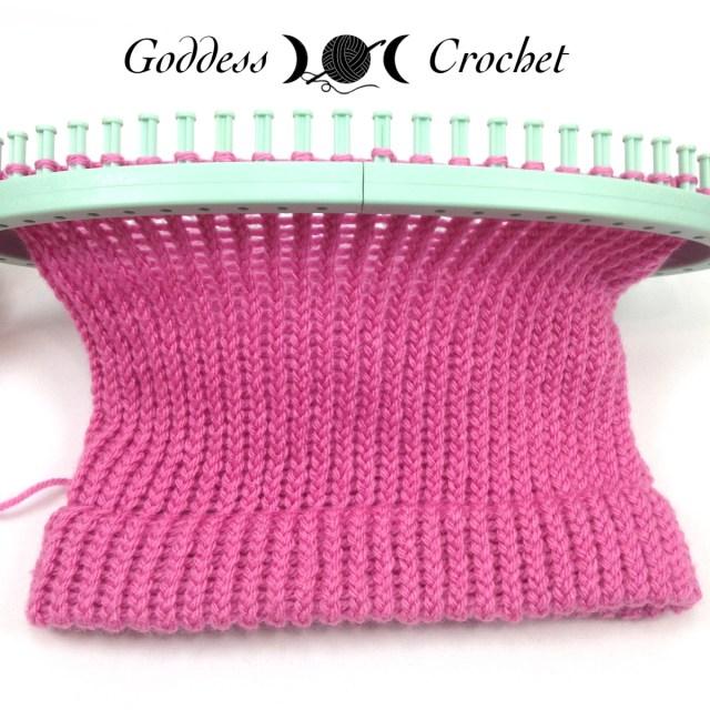 Loom knitting progress pic