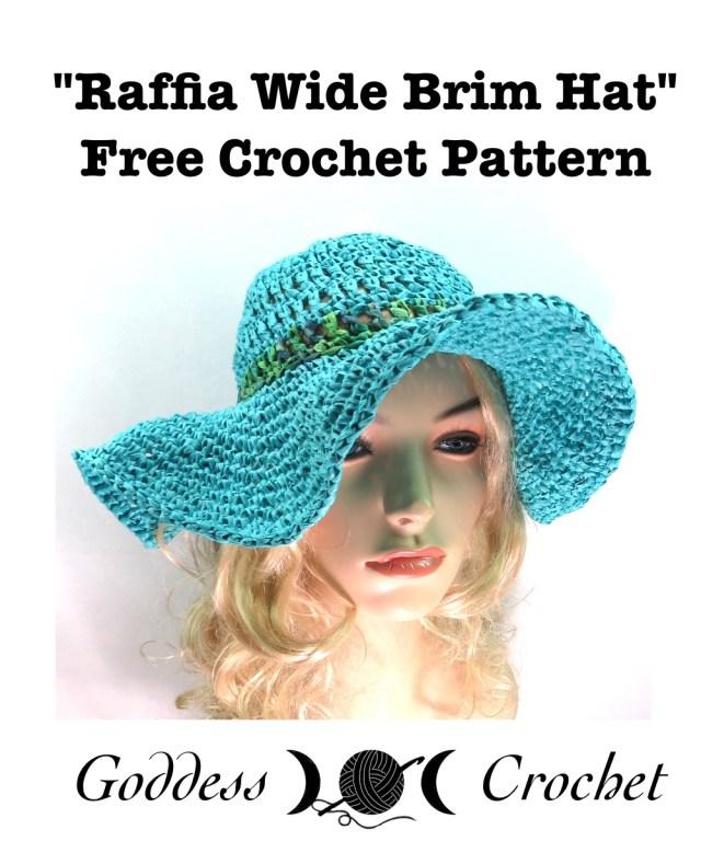 Raffia Wide Brim Hat – Free Crochet Pattern – Goddess Crochet 430b5b52df5