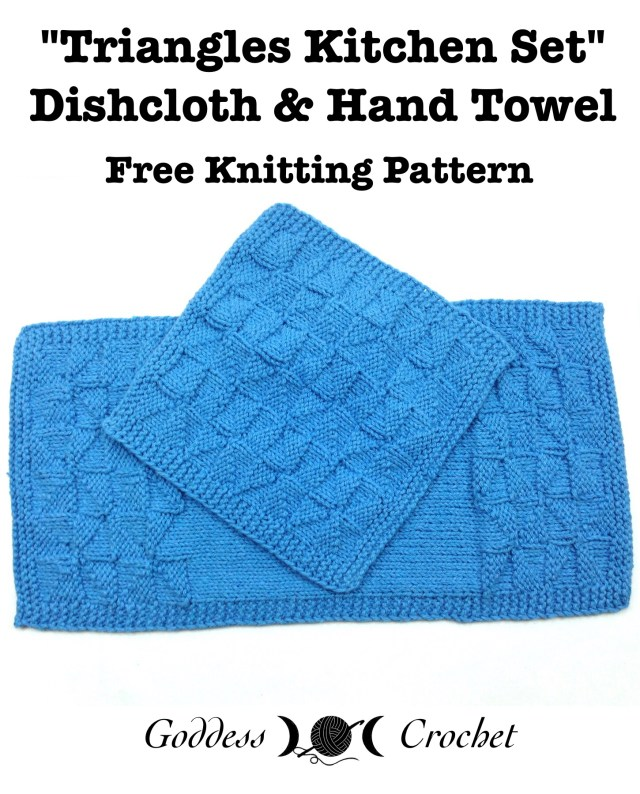 Triangles Kitchen Set - Free Knitting Patterns