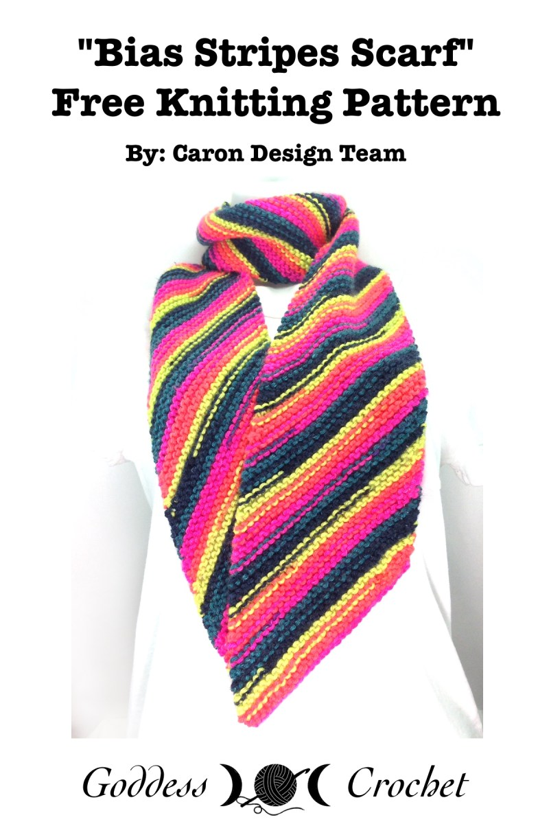 Bias Stripes Scarf – Free Knitting Pattern Review – Goddess Crochet