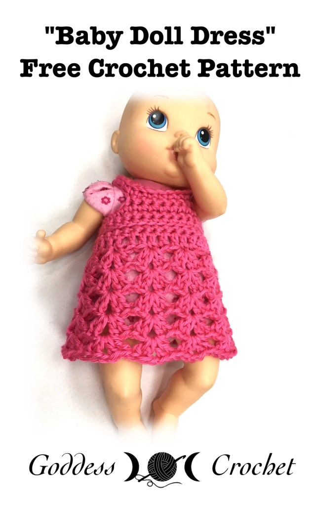 Baby doll dress free crochet pattern goddess crochet baby doll dress free crochet pattern dt1010fo