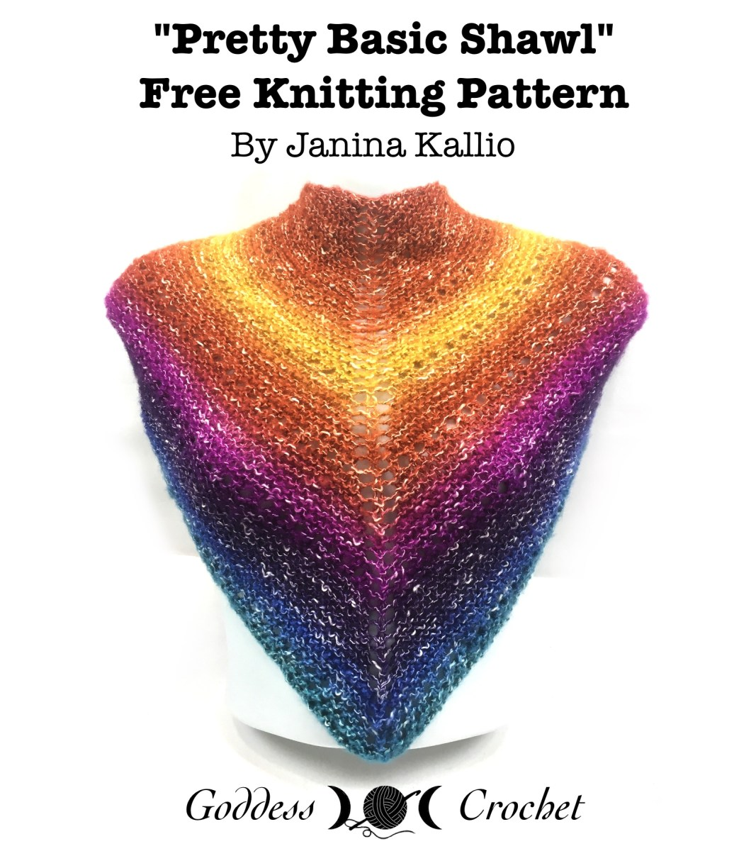 Pretty Basic Shawl – Free Knitting Pattern Review – Goddess Crochet