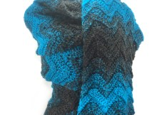 """A Wavy Shade of Winter"" Super Scarf - Free Crochet Pattern"
