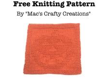 Jack O' Lantern Cloth - Free Knitting Pattern
