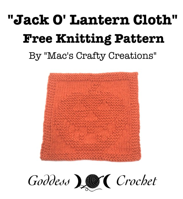 Jack O' Lantern Cloth - Free Knitting Pattern