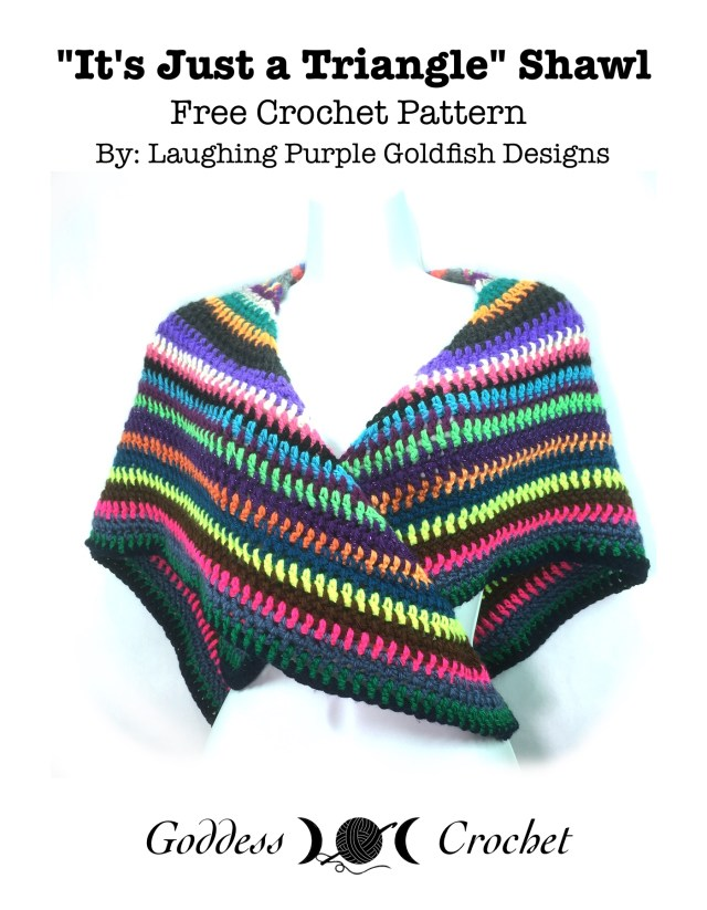 Just A Triangle Shawl Free Crochet Pattern Review Goddess Crochet