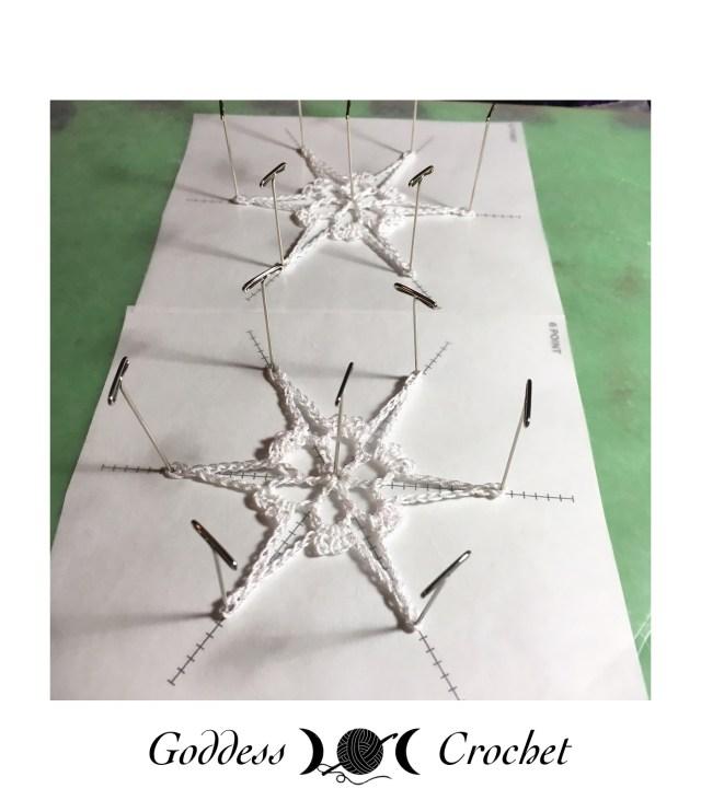 Thread Crochet Snowflake Blocking, 99 Snowflakes Volume 2, Leisure Arts