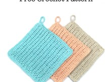 Easy Ribbed Dishcloth - Free Crochet Pattern