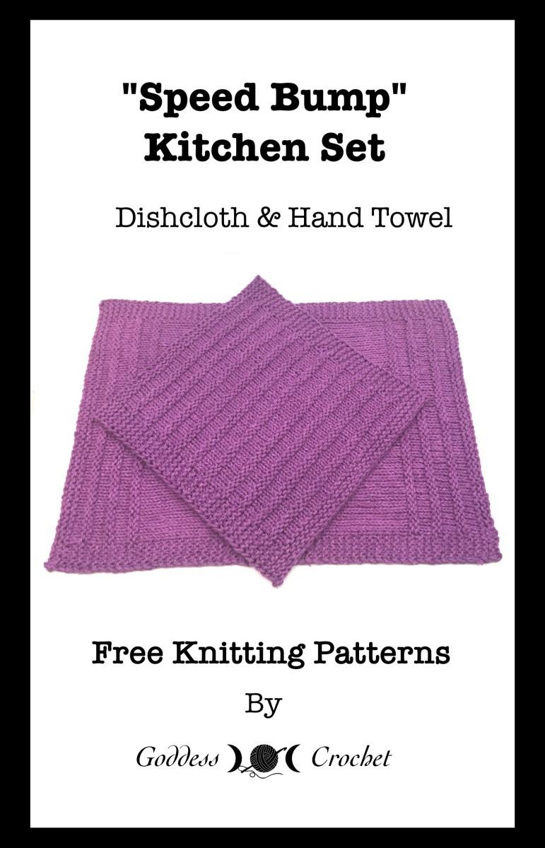 Speed Bump Hand Towel – Free Knitting Pattern – Goddess Crochet