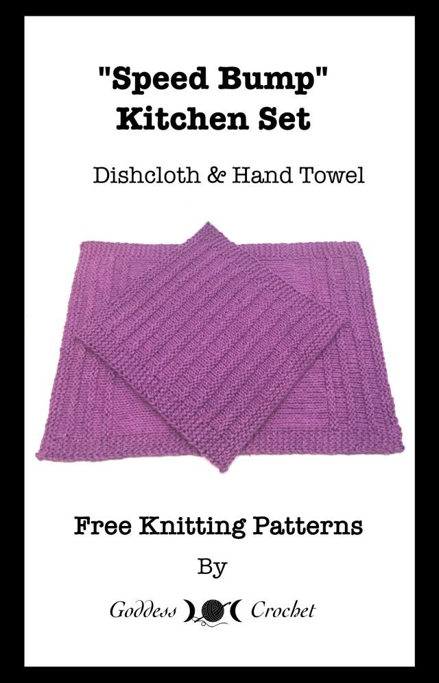 Speed Bump Hand Towel Free Knitting Pattern Goddess Crochet