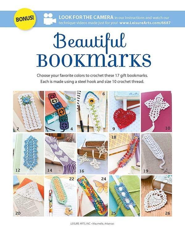 Beautiful Bookmarks - Crochet Pattern Book by Leisure Arts